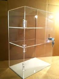 acrylic countertop display case x 7 tall locking security showcase for bakery coating countertops