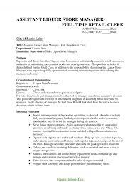 Fresh Liquor Store Resume Resume Store Resume Sales Associate