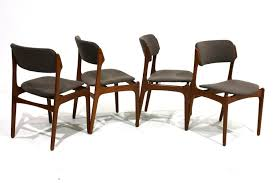 set of 4 teak dining chairs by erik buch for oddense maskinsnedkeri a s 1960s