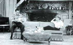 Ricky And Lucy In The Living Room Of Their Westport House.