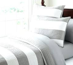 charming rugby stripe bedding gray and white green quilt uk