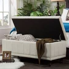 Image Is Loading End Bed Cream Bench Bedroom Furniture Home Decor