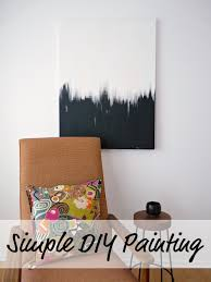 Diy Paint Ideas A Surprisingly Easy Tutorial For A Great Piece Of Diy Abstract Art