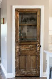 Diy bed frame  Vintage farmhouse door ...