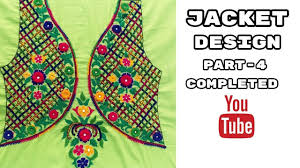Embroidered Jacket Designs Hand Embroidery Jacket Design Leaf Stitch Part 4