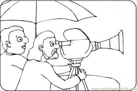 Small Picture Director With Video Camera Coloring Page Free Movies Coloring