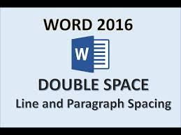 Printer Spacing Chart Template Word 2016 Double Space How To Put Double Line Spacing On