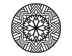 Mandala Da Colorare Fiori Disegno Di Mandala Fiore De Bambù Da