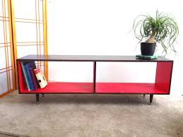 Tv Entertainment Stand Mid Century Modern Record Vinyl Cabinet Media Table Tv Stand