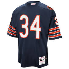 Throwback Mitchell Chicago Navy Authentic Ness Payton Walter Blue 1983 Mens amp; Jersey Bears