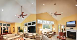 recessed lighting dining room. A Before And After Living Room Scene With Recessed Lighting In The Photograph. Dining