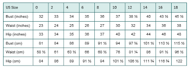 Clothing Size Charts Are Prolific In E Commerce However
