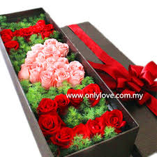i love u roses gift box sameday flower delivery to msia only love florist gifts
