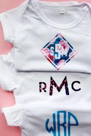 Design Your Own Baby Onesie Diy Monogram Baby Onesie See Kate Sew