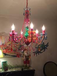 multi color chandelier colorful gypsy