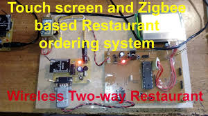 touch screen and zigbee based restaurant ordering system wireless premium