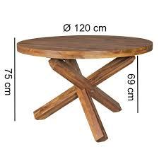 Finebuy Esszimmertisch Rund ø 120 Cm Massiv Holz Esstisch