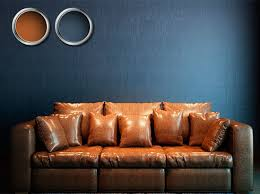 blue walls brown furniture. Brown Sofa + Blue Wall. Dark Color Combination Walls Furniture T