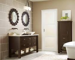 bathroom ideas bathroom appealing circled mirrored frames over custom carpenter made double sink vanity with towel bathroom vanity lighting remodel custom