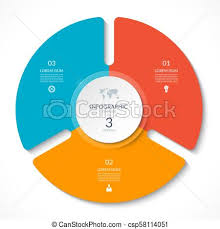 Infographic Circle Chart Vector Cycle Diagram With 3 Options Can Be Used For Graph Presentation Report Step Options Web Design