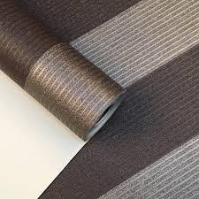Bruin Goud Bold Streep Behang Luxe Glitter Geweven Metallic Behang