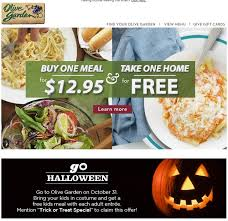 kids in costume eat free at olive garden october 31
