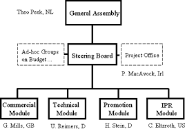 Dva Org Chart Organizational Chart Of The Dvb Project As Of 2004