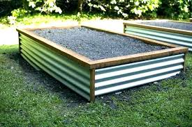 nized raised garden beds steel incredible bed design excellent 4 in 1 galvanized earthmark corrugated metal