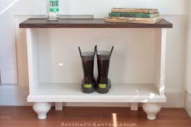 small entryway furniture. Southern Revivals | DIY Entryway Bench For Small Spaces Furniture R