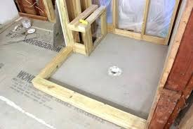 how to build a shower pan on a concrete floor how to build a shower pan on a concrete floor how to install a shower pan with shower base concrete build