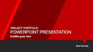 Red Ppt Red Portfolio Powerpoint Template