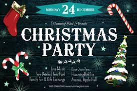 Free Party Flyer Templates Free Printable Christmas Party Flyers Postermywall