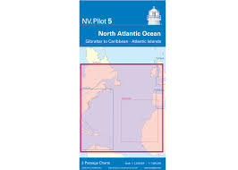 Chart Of Caribbean Islands Passage Chart 5 North Atlantic Gibraltar To The Caribbean