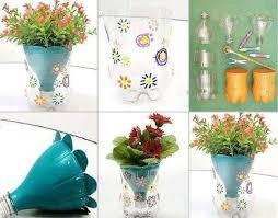 DIY Flower Pot Made From Plastic Bottles -GoodsHomeDesign - Cute kid crafts  (once an