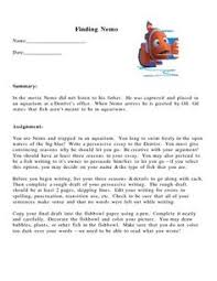 finding nemo essay finding nemo essay dissertation images about  images about grade writing persuasive persuasive writing assignment finding nemo