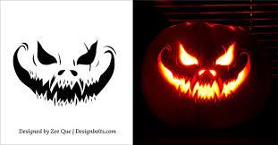 Scariest pumpkin patterns 10 free scary halloween pumpkin carving patterns  stencils ideas