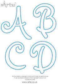 Fonts  String Art TemplatesLetter ...