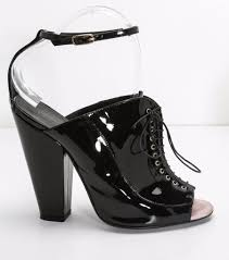 details about givenchy womens black patent leather lace up block heel booties high heels 9 39
