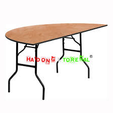 60 inch half round plywood folding banquet outdoor table