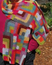 39 best Modular knitting images on Pinterest | Knitting patterns ... & Modern quilt wrap by Mags Kandis - modular knitted, one colour at a time! Adamdwight.com