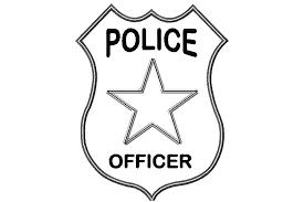 Fireman Badge Coloring Page Color Bros