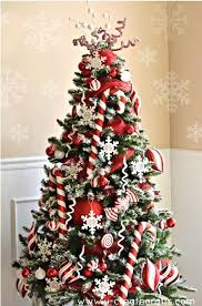 10 ScandinavianInspired Christmas Decorating Ideas  Traditional Red Silver And White Christmas Tree
