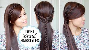Twist Hair Style quick and easy hairstyles with a twist youtube 1039 by stevesalt.us