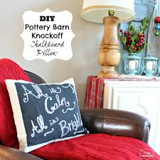 Pottery Barn Peace Sign Light Diy Chalkboard Pillow Pottery Barn Christmas Knockoff