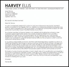 Architectural Cover Letter Solution Architect Cover Letter Sample