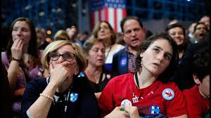 Image result for hillary crying upset supporters