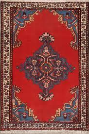 dazzling decorative geometric red 3x5 wool persian bakhtiari oriental area rug