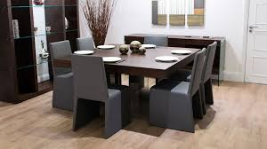 box grey dining chairs and 8 seater dining table