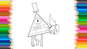 Bill Cipher Coloring Book Gravity Falls Coloring Pages Videos For