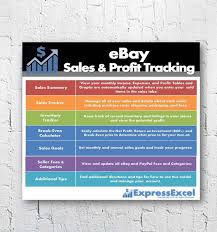 Break Even Excel Template Impressive EBay Sales Profit Tracking Break Even Calculator Etsy